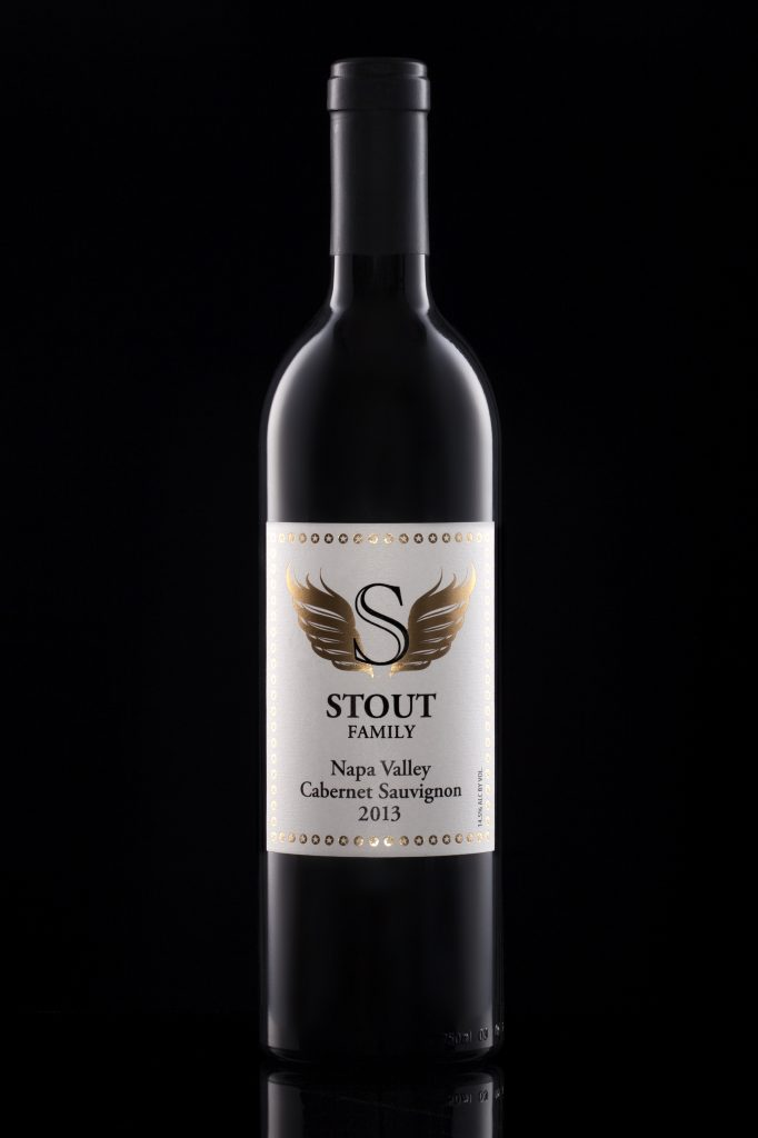 Product photography for Stout Family wine