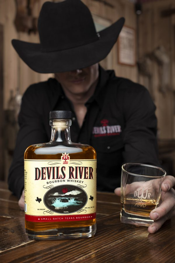 Portrait photography of Sterling Crawley for Devils River Whiskey in San Antonio, TX